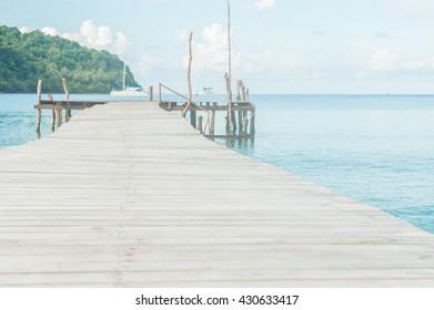 Wooden bridge on the way to the harbor
