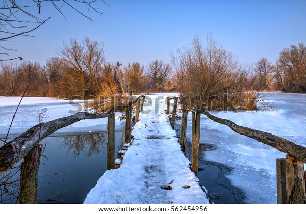 Wooden Bridge Over Lake Savica Sanci Stock Photo Edit Now 562454956