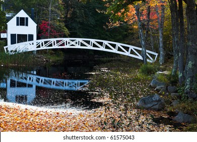 Wooden Bridge in Somesville, Acadia National Park, Maine, USA