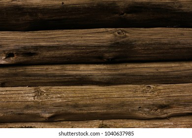 Wooden brown wall, background, texture
