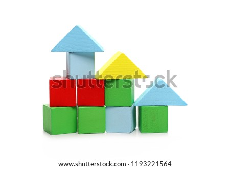 Wooden Building Blocks Children Made Into Stock Photo Edit Now