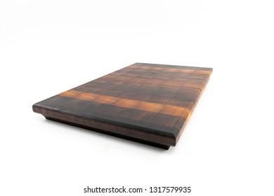 wooden butcher chopping block, natural durable end grain hard wood board texture