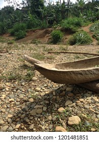 Wooden canoe of Panamanian Indians