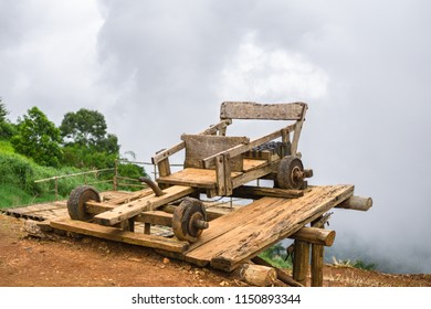 Wooden car race in the north of Thailand, Mon jam, Mae Rim, Chiang Mai.