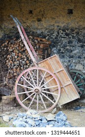 A wooden cart in Cantabria, Spain