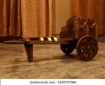 Wooden  Cartwheel, interior object ,Ancient periods using vehicle for transportation