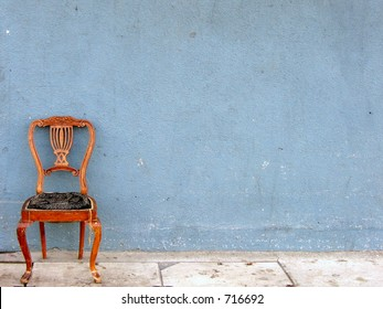 wooden chair alone (horizontal