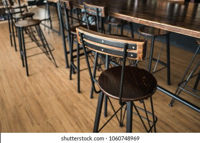 Wooden Chair at Coffee Shop