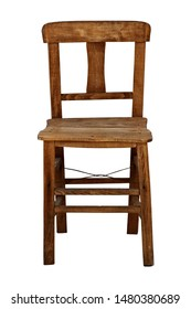 Wooden chair isolarted on white