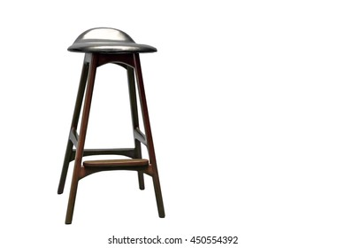 wooden chair isolate on white background