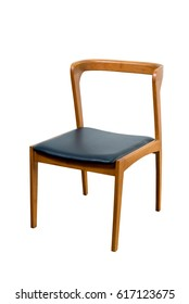 Wooden Chair isolated on white background. This has a clipping path.