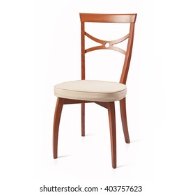 Wooden chair on white background. Isolated.