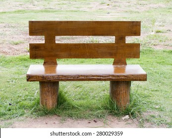 Wooden chairs in the garden