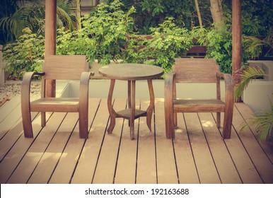 wooden chairs on wooden floor