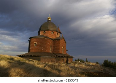 Wooden chapel in Beskydy mountains