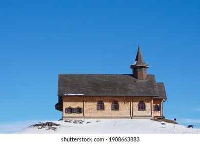 The wooden chapel in Stoos in Switzerland