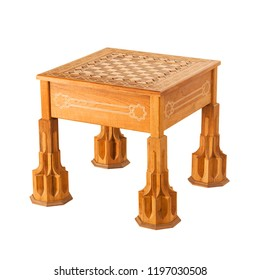 Wooden chess table made with Girih and KHATAM art