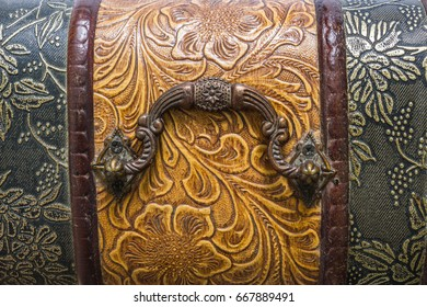 Wooden chest engraving background