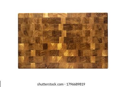 wooden chopping board end made of oak wood