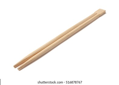 Wooden Chopsticks isolated on a white background