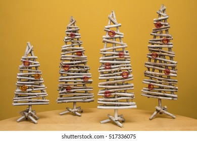 Wooden christmas tree - small decoration for holidays - idea for home-made present