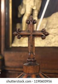 Wooden church cross