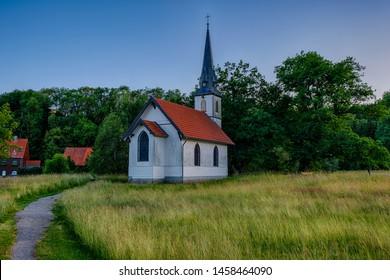 wooden church Elend im Harz evening atmosphere sunset
