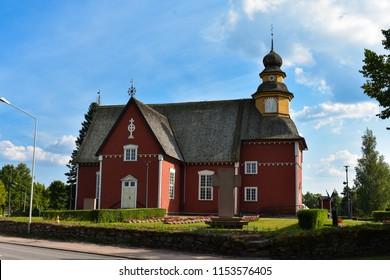 Wooden church in Säkylä, Finland built in 1600s-1700s. (Säkylän kirkko)