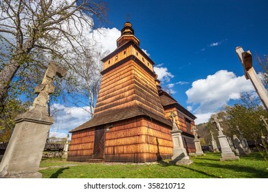 Wooden church in Kotan, Beskid Niski, Poland