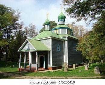 Wooden church in Pereiaslav-Khmelnytskyi, Ukraine