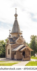 Wooden church in Petrozavodsk, the capital of Karelia