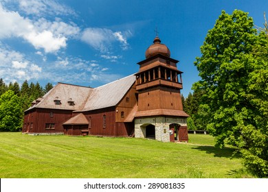 Wooden church Svaty Kriz, Slovakia on June 3, 2015 - Shutterstock ID 289081835