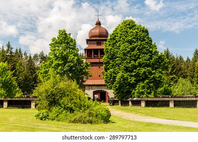 Wooden church Svaty Kriz, Slovakia on June 3, 2015 - Shutterstock ID 289797713