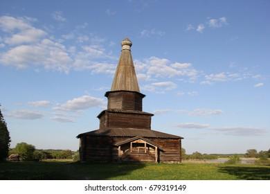 Wooden church in Velikiy Novgorod