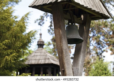 wooden church, vintage, museum exhibits