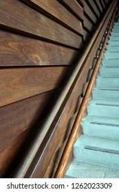 Wooden cladding and steps