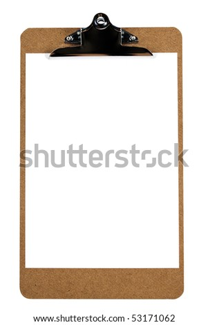 wooden clipboard blank piece paper with stock photo edit now