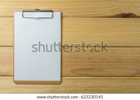 wooden clipboard on wood background stock photo edit now 623230145