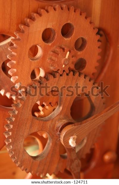 Wooden Clock Gears