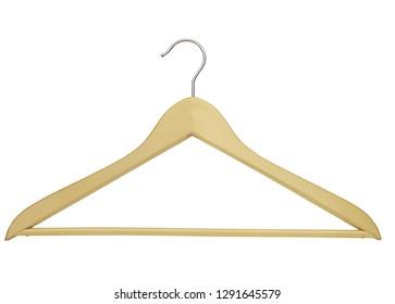wooden clothes hanger