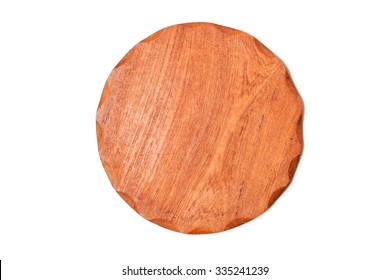 Wooden coasters isolated on white background