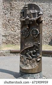 Wooden column. /Kremnica/