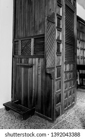 wooden confessional of a church, Birongo, Venezuela