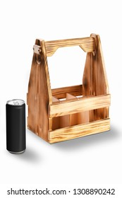 Wooden container for cans or bottles