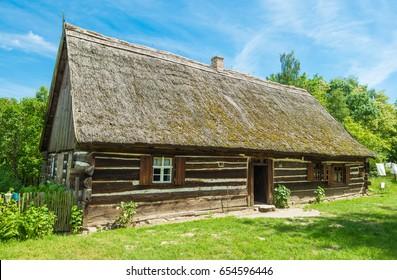 Wooden cottage in polish village- Poland, Europe