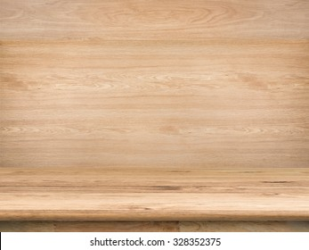 wooden counter top with wooden background