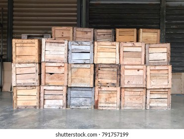 Wooden Crates Wall Stock Photos Images Photography Shutterstock