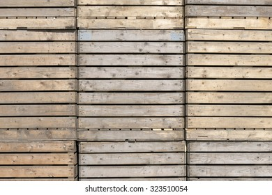 Wooden crates at a company in St. Nicolaasga, Netherlands.