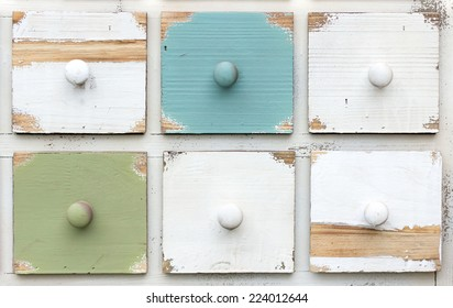 "Wooden crates-style colored ""shabby chic"""