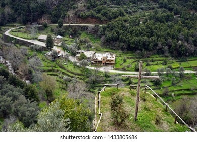 Wooden cross in Quadisha valley, Lebanon